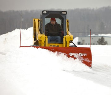 BOSS Skid-Steer Plows
