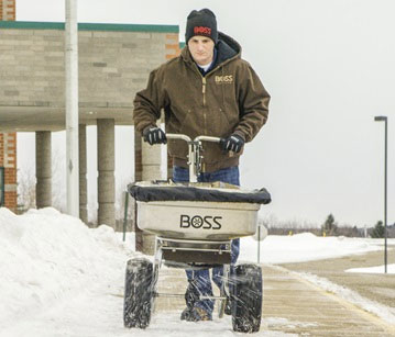 BOSS Stainless Steel Walk Behind Spreaders